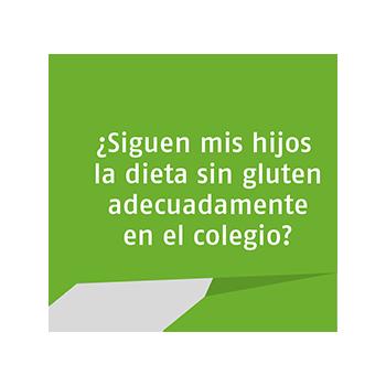 ¿siguen mis hijos la dieta sin gluten adecuadamente en el colegio?